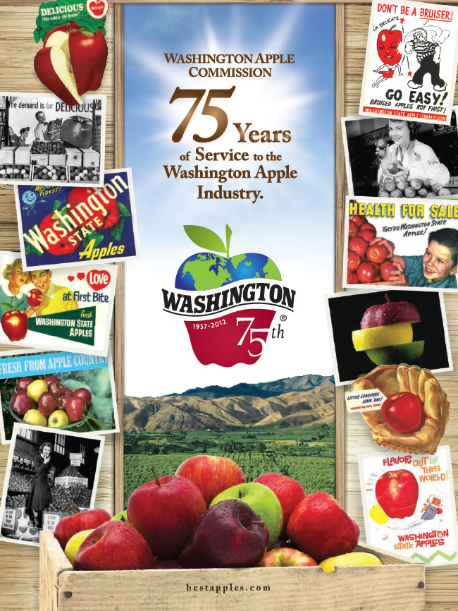DGI VisCom Designed The 75th Anniversary Poster of Washington Apples