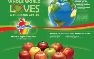 Washington Apples' Love Campaign - Exhibit Booth Backdrop
