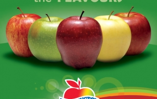 Washington Apples' Love Campaign Trade Print Ad - Love the FLAVOURS