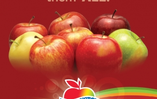 Washington Apples' Love Campaign Trade Print Ad - Love them ALL