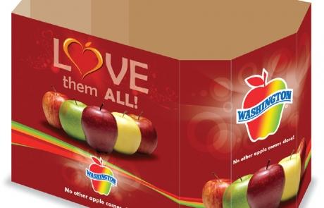Washington Apples' Love Campaign - Supermarket Display Bin